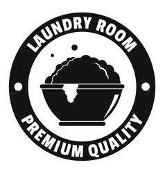 laundry premium room logo simple style vector image