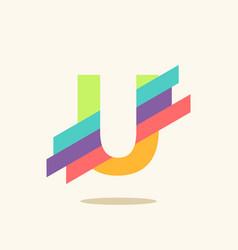Letter u logo icon design template elements vector