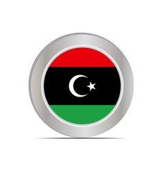 Libyas national flag is isolated in official vector