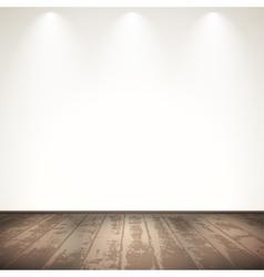 Light wooden room vector image