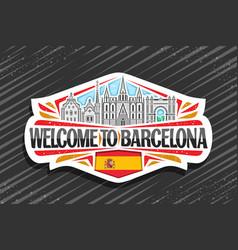logo for barcelona vector image