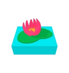 Lotus flower cartoon icon vector image