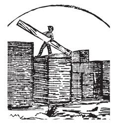 lumber yard vintage vector image