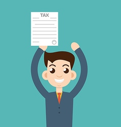 man with tax form vector image