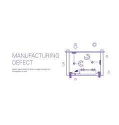 Manufacturing defect template web banner with copy vector