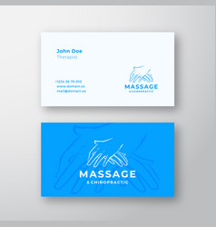 Massage and chiropractic abstract logo vector