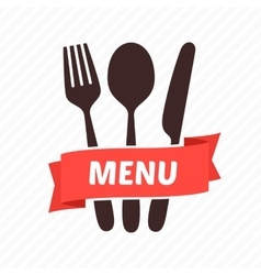 Menu restaurant icons vector image