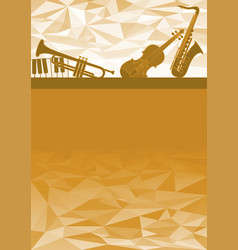 music instruments gift card vector image