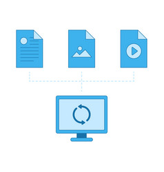 network files sync cloud vector image