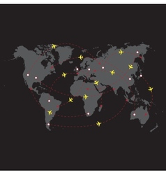 Night travel world vector