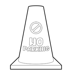 No parking cone icon isometric 3d style vector