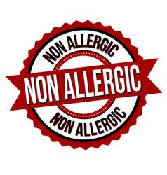non allergic label or sticker vector image