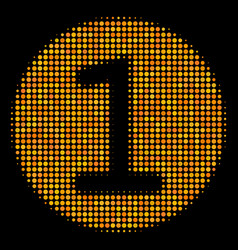 one coin halftone icon vector image