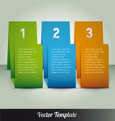 Page number Template vector image