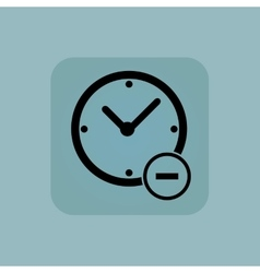 Pale blue reduce time icon vector