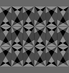 pattern of triangle seamless background vector image