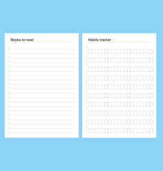 Planner kit template pages to do vector