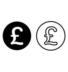 pound sterling currency symbol icon vector image