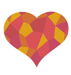 Red heart mosaic symbol vector
