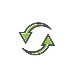 reload refresh icon graphic design template vector image
