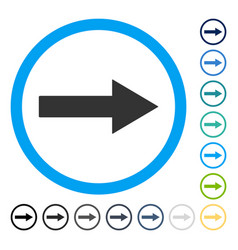 Right rounded arrow icon vector