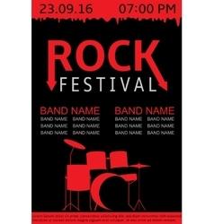Rock festival banner vector