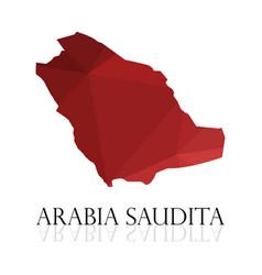 Saudi arabia map on white background vector