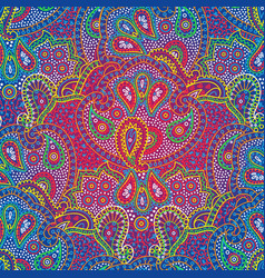 Seamless color paisley pattern vector