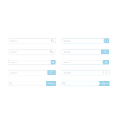 search bar design set vector image