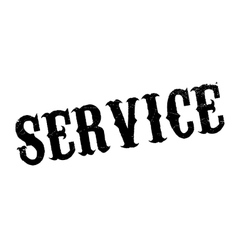 Service rubber stamp vector