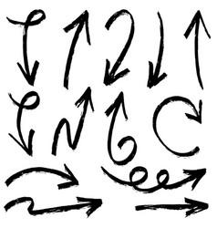 Set hand drawn arrows doodle design vector
