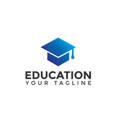 Simple education logo design template vector