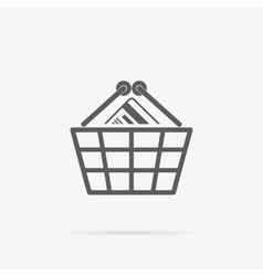 Simple Shopping Basket Icon vector image
