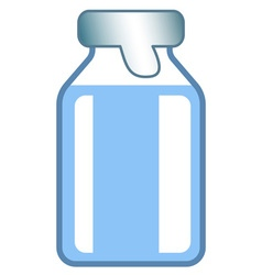 Small glass vial vector image