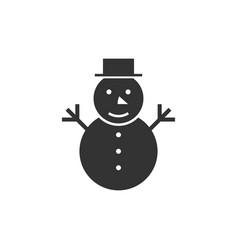 Snowman black icon vector