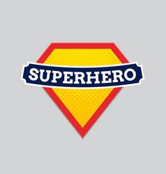 superhero badge logo super hero shield man vector image