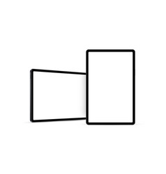 Tablet computer horizontal and vertical mockup vector