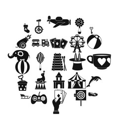 tad icons set simple style vector image