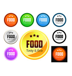 Taste and eco food vector