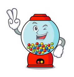 Two finger gumball machine character cartoon vector