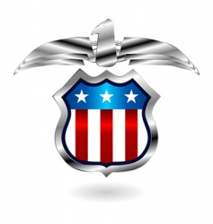 us fantasy badge vector image