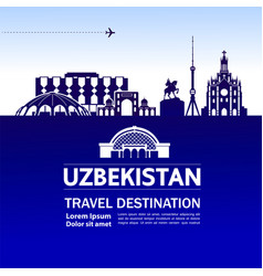 Uzbekistan travel destination vector