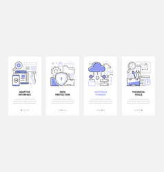 web development - line design style banners vector image