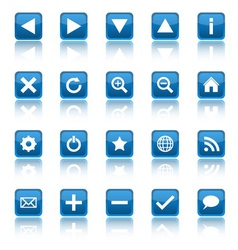 Web navigation icons isolaten on white background vector