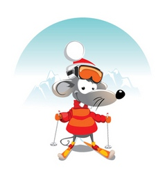 Winter mouse vector