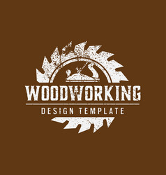 woodworking logo icon design template vector image