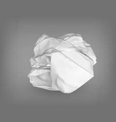 Wrinkled or crumpled garbage paper or trash ball vector