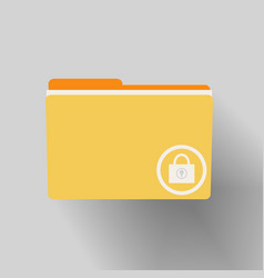 yellow folder with locked vector image