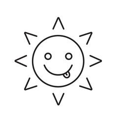 Yummy sun smile linear icon vector