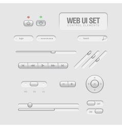 light Web UI Elements vector image